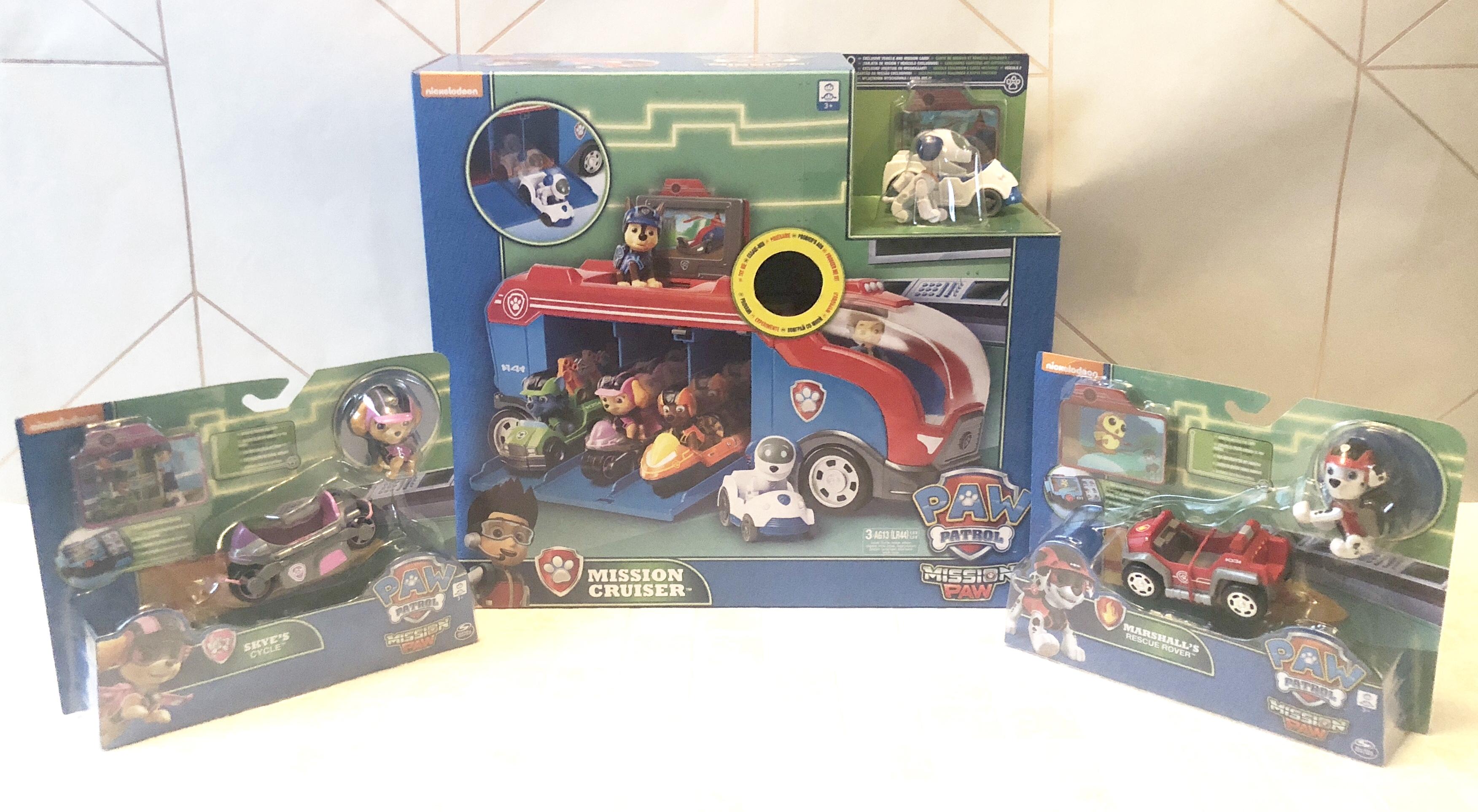 Paw Patrol Cruiser Chase Vehicle Mission Car Truck Robo Dog Mini Vehicles Set